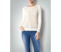 Damen Pullover mit floralem Häkelmuster