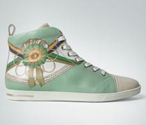 Damen Schuhe Leder-Sneaker mit Reiter-Motiv