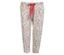 Damen Nachtwäsche Pyjama-Capri mit Schmetterlings-Muster
