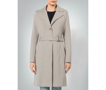 Mantel Trenchcoat aus Heavy Jersey