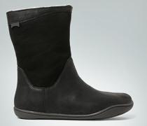 Schuhe Bootie mit Material-Mix