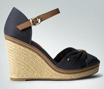 Damen Schuhe Wedges mit Absatz aus Bast