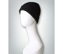 Damen Mütze in klassischem Rippenstrick