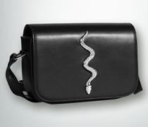 Schultertasche mit Schlangen-Verzierung