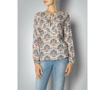 Damen Bluse Tunika mit floralem Dessin