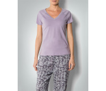 Pyjama-Shirt mit großem V-Ausschnitt