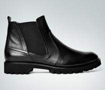 Damen Schuhe Chelsea Boots mit markanter Profilsohle schwarz