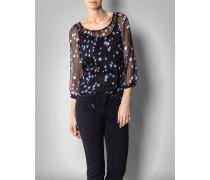 Damen Bluse aus Krepp-Chiffon und Seiden-Top