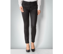 Damen Jeans mit Leather Effect