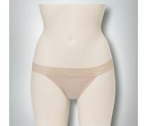 Damen Wäsche Bikini Slip mit Bund aus Spitze