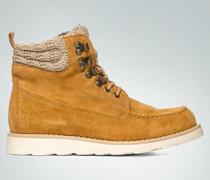 Damen Schuhe Schnürstiefelette mit Strick-Details