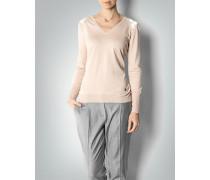 Damen Pullover mit Satin-Besatz