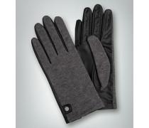 Damen Handschuhe aus Nappaleder mit Jersey