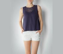 Damen Shirt-Bluse mit Häkelspitze