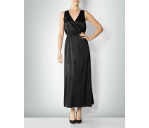 Damen Kleid aus Seiden-Stretch in Wickeloptik