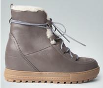 Damen Schuhe Wedge-Boots mit Kunstfell