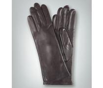 Damen Handschuhe Schaf-Nappa Kaschmirstrickfutter dunkel