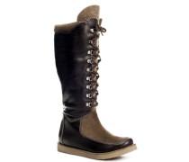 Damen Schuhe Stiefel, Nappa-Velours-Filz,
