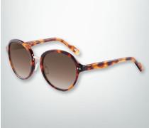 Damen Brille Sonnenbrille mit Metallsteg in Gold