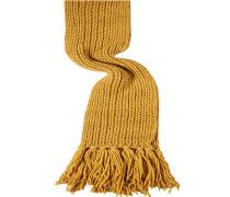 Damen Schal, Wollmischung, curry