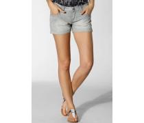 Damen Jeans Shorts Baumwolle indigo stripe