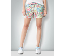 Hose Short in Modern Fit mit Karibik-Print