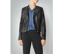 Damen Jacke in Leder-Optik