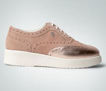 Damen Schuhe Plateau-Sneaker aus Leder