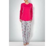 Damen Nachtwäsche Pyjama in floralem Dessin