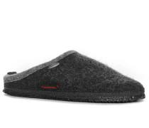 Damen Schuhe Pantoffel'Dannheim', Wollfilz, asphalt