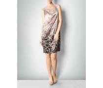 Damen Kleid aus Seidensatin mit Animalprint
