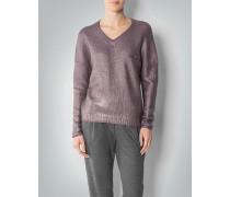 Damen Pullover mit Metallic-Finish