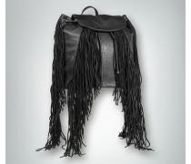 Damen Rucksack mit Fransenverzierung