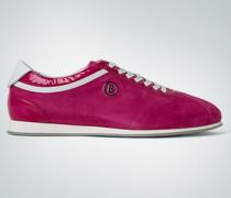 Schuhe Sneaker, Velours-Lack, pink-weiß