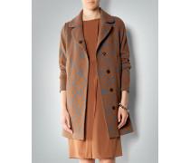 Damen Mantel mit Brokat-Muster