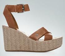 Schuhe Plateau-Wedges aus Nappaleder