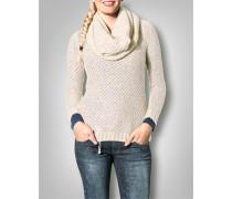Damen Strickpullover mit Schal