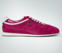 Damen Schuhe Sneaker Velours-Lack pink-weiß