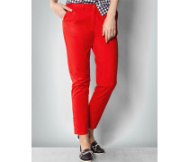Damen Hose Preppy Chino in Feuer