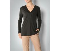 Damen Langarmshirt mit Seiden-Ausschnitt