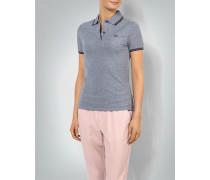 Damen Polo-Shirt in melierter Optik