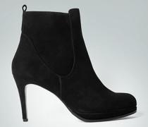 Damen Schuhe Stiefeletten aus Veloursleder schwarz