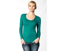 Damen T-shirt Viskose-Wolle smaragd