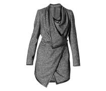 Damen Capemantel Wolle-Alpaka-Seide Tweeed -weiß