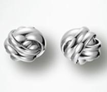 Damen Schmuck Ohrstecker mit ineinander verschmelzenden Ringen