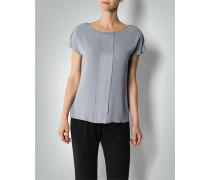 Damen Shirt-Bluse mit Falten-Details