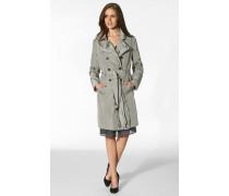 Damen Mantel Trenchcoat Mikrofaser kiesel