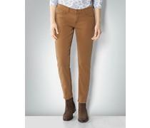 Damen Jeans 'Kelly Cropped' in Slim Fit aus Baumwoll-Stretch