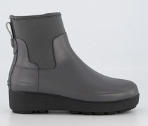 Schuhe Gummistiefel mit Plateausohle