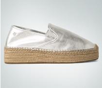Damen Schuhe Espadrilles im Metallic-Look